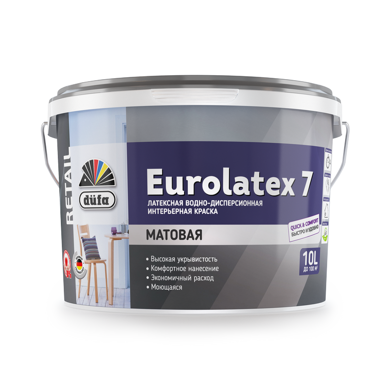 Dufa Retail EUROLATEX 7/Дюфа Ритейл Евролатекс 7 Водно-дисперсионная краска